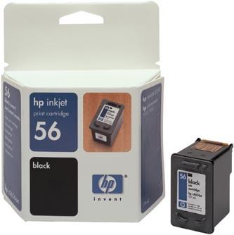 HP 56 Black (19ml) pro DJ 5550, PS 7x50 (C6656AE) - originální