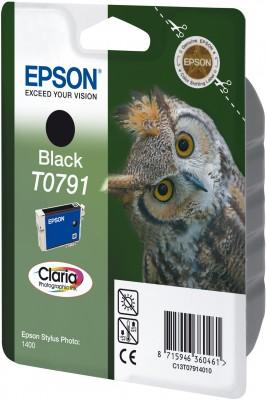 Epson T0791 Black Claria Photographic Ink 11ml pro Stylu Photo 1400 - originální