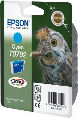 Epson T0792 Cyan Claria Photographic Ink 11ml pro Stylus Photo 1400 - originální