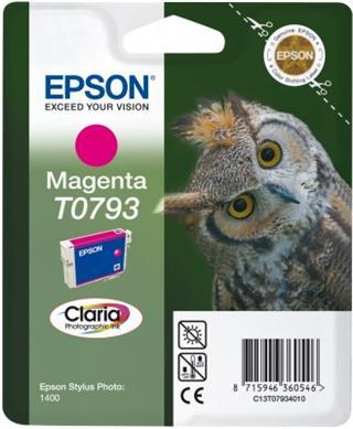 Epson T0793 Magenta Claria Photographic Ink 11ml pro Stylus Photo 1400 - originální