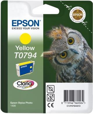 Epson T0794 Yellow Claria Photographic Ink 11ml pro Stylus Photo 1400 - originální