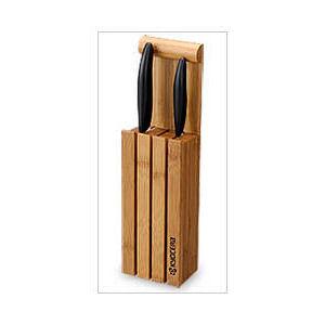 Stojan na 3 keramické nože, vyrobeno z bambusu
