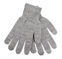 Rukavice na dotykový displej šedé pánské