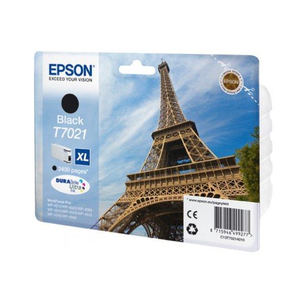Epson T7021 XL Black, až 2400 stran, pro série WP4000/4500 (WP-4015,WP-4025,WP-4515,WP-4525,WP-4535,WP-4545) - originální