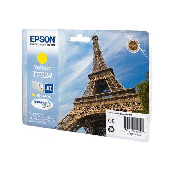 Epson T7024 XL Yellow, až 2000 stran, pro série WP4000/4500 (WP-4015,WP-4025,WP-4515,WP-4525,WP-4535,WP-4545) - originální