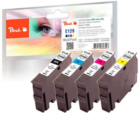 Peach E129 Combi-pack kompatibilní s T1295 + Dárek! Peach PA104 - čistič na displeje