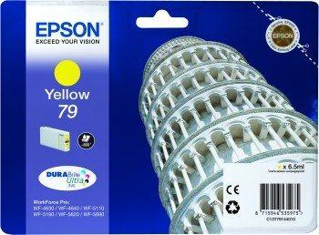 Epson T7914 Yellow, 6,5ml, pro série WF-5110DW,WF-5190DW,WF-5620DWF,WF-5690DWF - originální