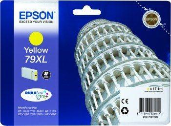 Epson T7904 XL Yellow, 17ml, pro série WF-5110DW,WF-5190DW,WF-5620DWF,WF-5690DWF - originální